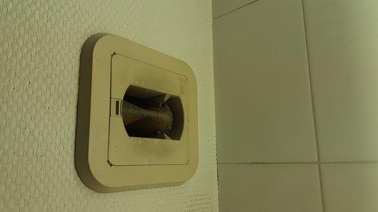 Cran-Gevrier, Frankrike: Menage a revoir dans la salle de bain, un rideau de douche ça se change... Nous avions également