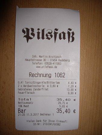 Radeberg, Germany: Rechnung