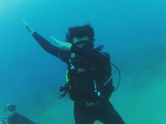 First time scuba diving anchordivingcentre thank for the for Aqaba dive