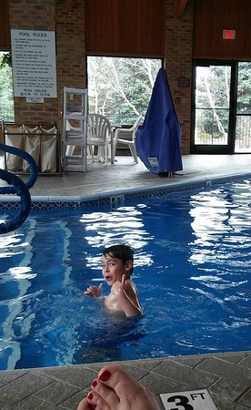 Marshall, MI: My son giving the pool his thumbs up ! !