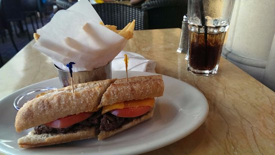 The Cheesecake Factory: Sandwich w/ french fries, delicious!!!