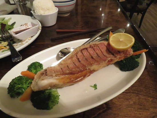 Indochine: Snapper served with Sweet Curry Sauce on the side