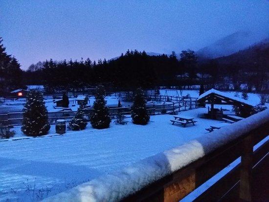 Saint Die des Vosges, Francia: Vue du balcon au petit matin de février