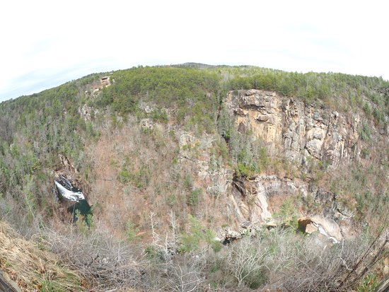 Tallulah Falls, Geórgia: Hurricane Falls from the top Gorge depth 500'