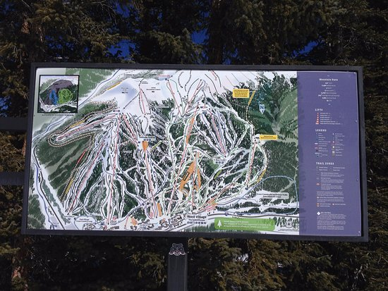 Copper Mountain: Trail map
