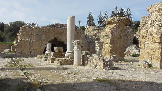 Kartago, Tunesien: un aperçu de ces vestiges, nous sommes ici dans les sous-sol des thermes,
