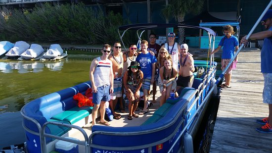 Blue Crab Watersports: Plenty of family space on a pontoon. Come and see our new ones!! 2017 Bentleys!!