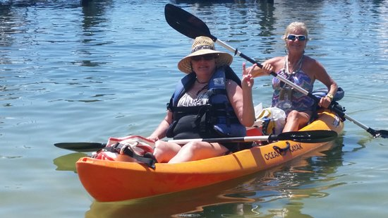 Blue Crab Watersports: Kayaking is relaxing for anyone! Come see our new kayaks modified for fishing!