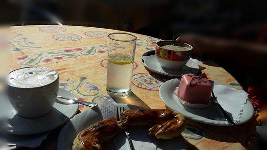 Hinterstoder, Austria: im Gastgarten