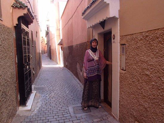 Riad les Orangers d'Alilia Marrakech: The Riad's front door.