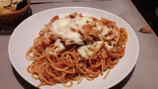 San Martino di Lupari, Italia: Spaghetti all'amatriciana