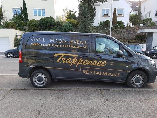 Trappensee Restaurant fahrende Werbung  ;-)
