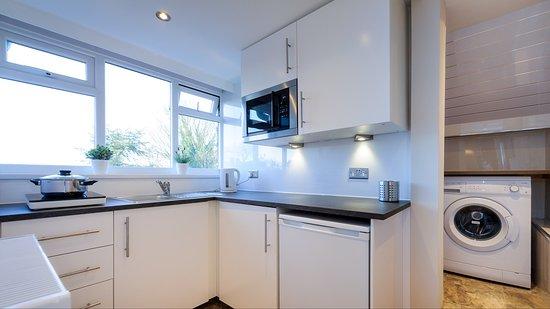The Lennox Lea Hotel Studio Kitchen With Washing Machine