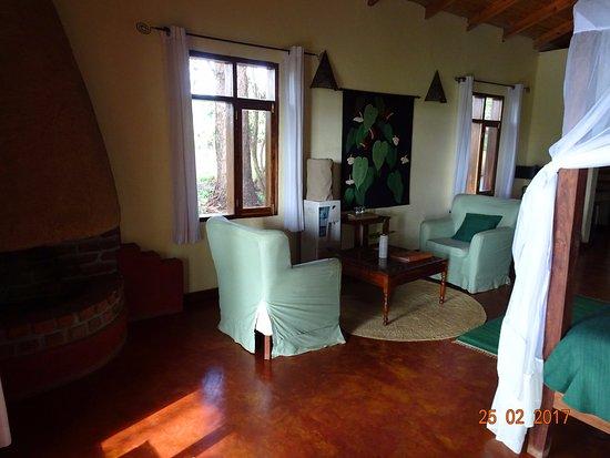 Angolo soggiorno con camino - Bild von Ngorongoro Farm House ...