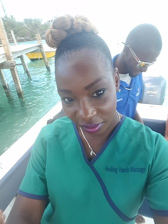 Exuma Healing Hands Massage Service: On my way to Staniel Cay from George Town Exuma to service my clients