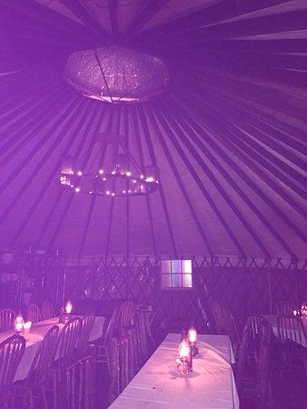 Montana Dinner Yurt: Inside #2