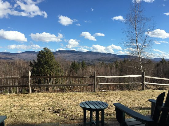 Trapp Family Lodge: looking out from our guest house
