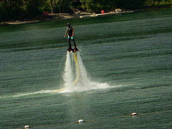 Whitefish, MT: Hover boarding is an option.  This was his first time.