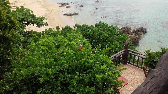 Diamond Cliff beach: Accesso alla spiaggia
