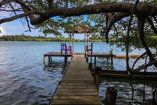 Isla Popa, Panama/Panamá: Embarquadère