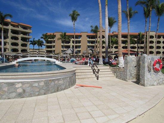 Worldmark Coral Baja: resort view, from beach