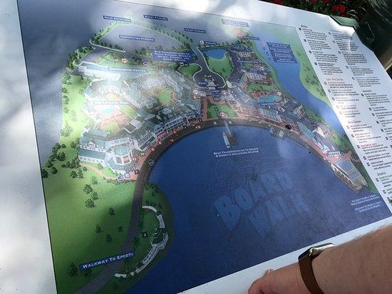 Map of the Boardwalk - Picture of Disney\'s Boardwalk ...