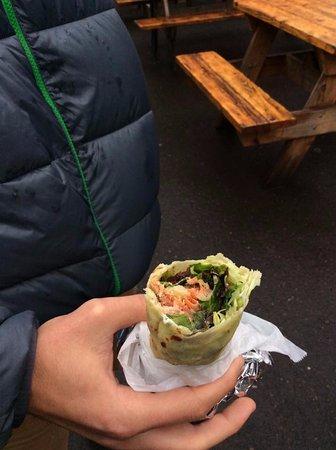 Eat Adventures Food Tours: Lefsa wraps with smoked salmon