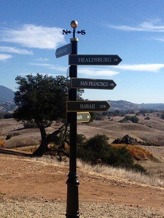 Jordan Vineyard & Winery: View from the top of Jordan