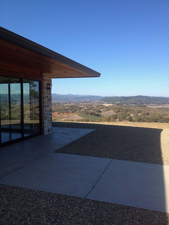 Jordan Vineyard & Winery: View from one of their special tasting rooms