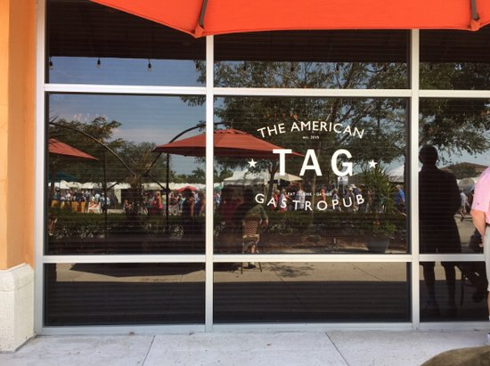 Estero, FL: Outside of TAG patio/sidewalk dining