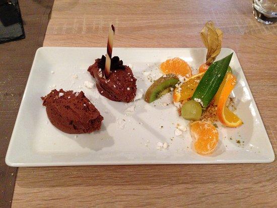 Buellingen, Belgique : Mousse au chocolat