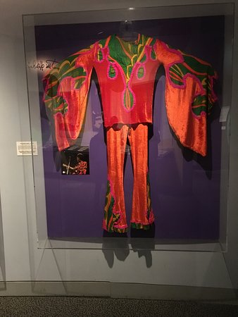 Rock & Roll Hall of Fame: Jimi Hendrix outfit... the exhibits were amazing