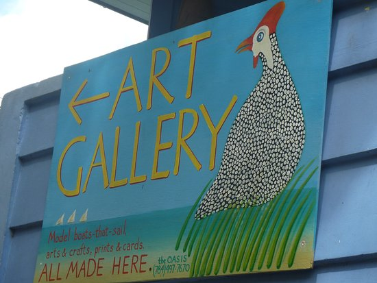 Port Elizabeth, Bequia: lovely cards are available with this artwork