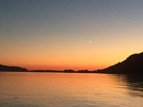 Corbett, OR: Sunset from Sand Island