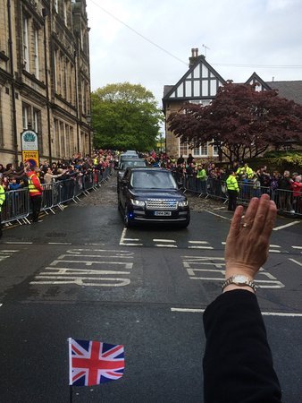 Her Majesty the Queen of Britain visiting Lancaster Castle