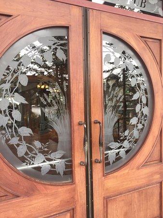 Beautiful etched glass doors Longwood Brew Pub \u0026 Restaurant 5775 Turner Rd Nanaimo & Beautiful etched glass doors Longwood Brew Pub \u0026 Restaurant 5775 ...