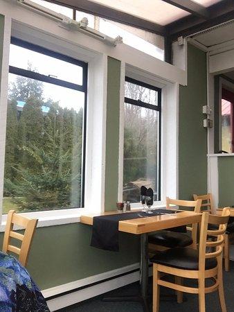 View of interior beach house cafe 2775 island hwy qualicum beach