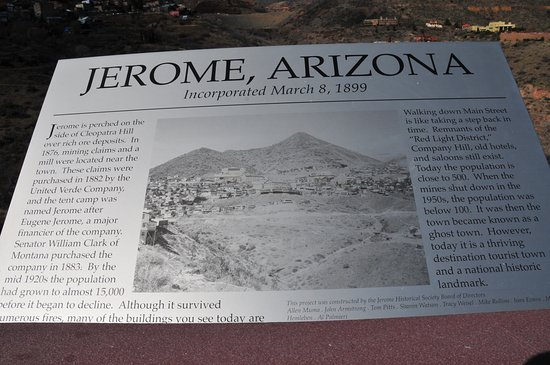 Jerome Incorporated 1899