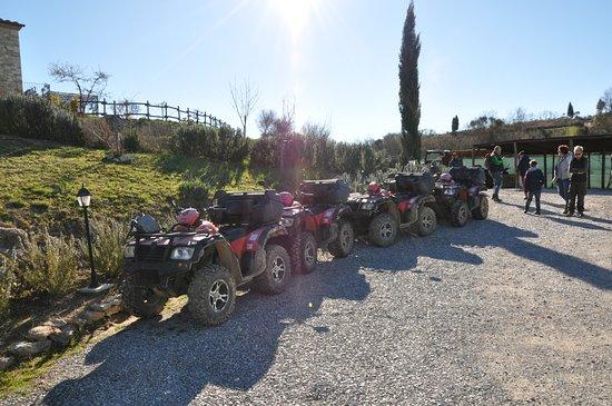 Serre di Rapolano, Italia: Alla Partenza