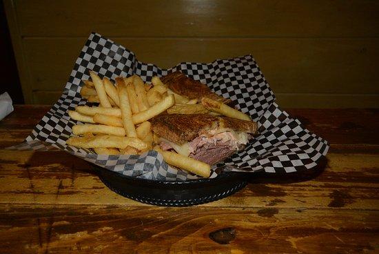 J.T. Hannah's Kitchen: reuben sandwich with fries