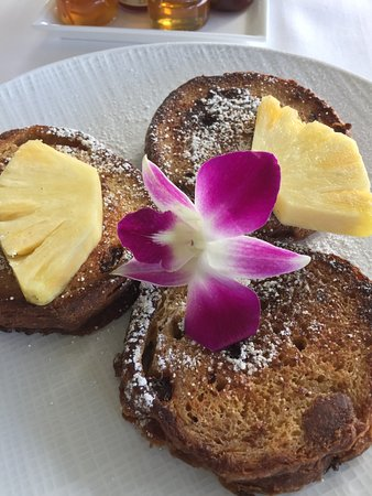 Orchids: haupia french toast