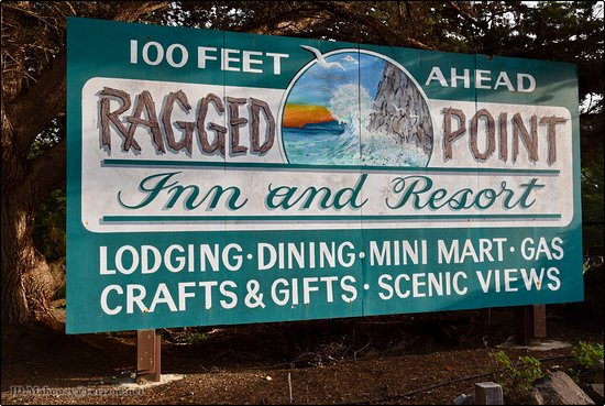 Ragged Point Inn and Resort: North side entrance sign