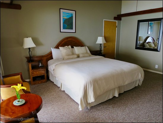Ragged Point Inn and Resort: Inside view of the room with flower by seating area
