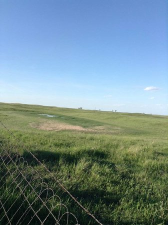 Kulm, ND: Past the fence on the other side of the hilltop lies the massacre site
