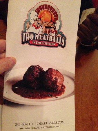 menu picture of two meatballs in the kitchen fort myers tripadvisor rh tripadvisor co za two meatballs in the kitchen dinner menu Meatball Room Menu