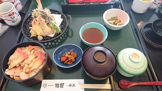 Denen Watariten : 特製ほっきめしミニ膳(刺身抜き) ¥2052