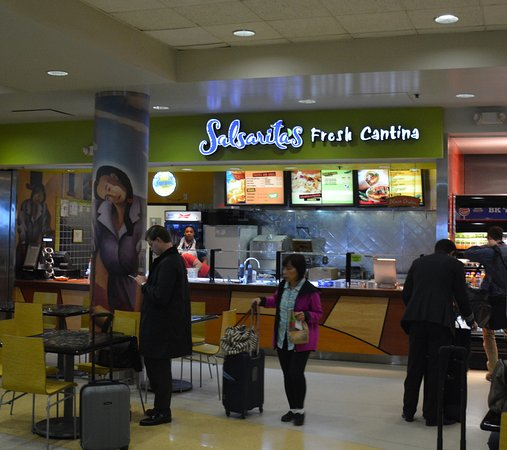 Food At Charlotte Airport From Salsarita Picture Of
