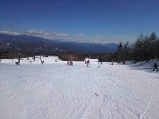 Sun Meadows Kiyosato Highland Park : 遠く富士山が見える