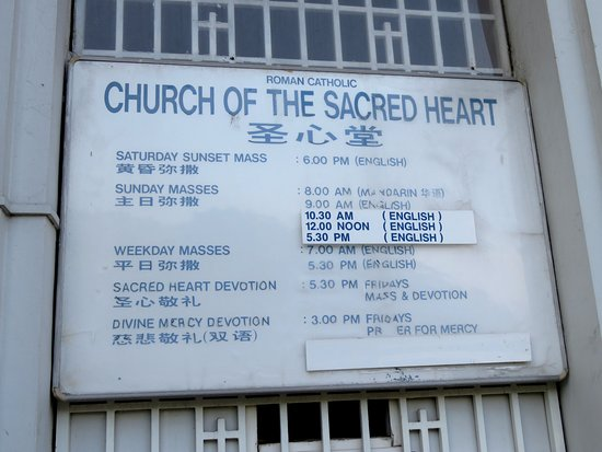 Mass Times At Church Of Sacred Heart Singapore 12 Mar 17