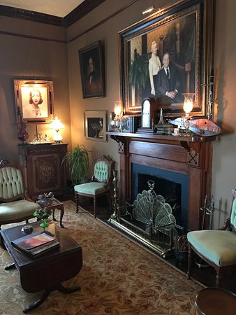 The Reynolds Mansion: Period adornments invite guests to sit and explore the history of the home and family.